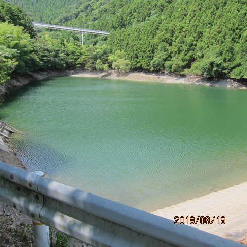 ため池の水全景