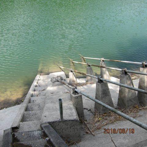 ため池の水排水栓