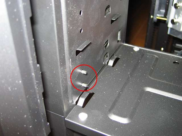 PC ケース Antec Three Hundred Two AB 5.25 インチドライブベイ ツールレスロック機能 ドライブ固定用ネジ状突起物