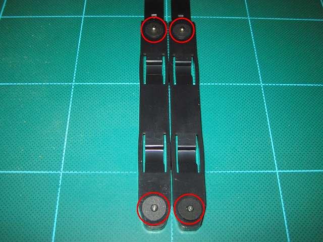 3.5 インチストレージデバイス取り付け、Antec Three Hundred Two AB 付属 HDD 用ドライブレールネジ部分に Ainex 防振ゴムワッシャー MA-024 装着