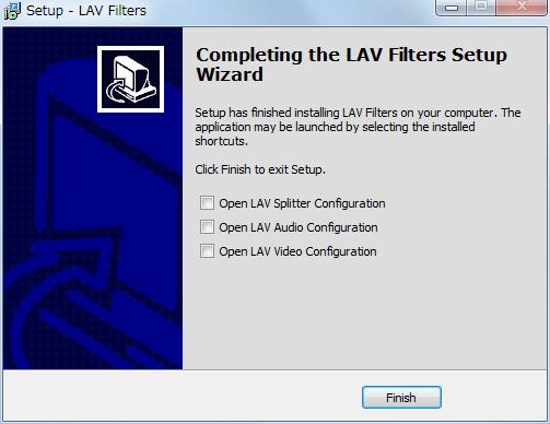LAV Filters 0.71 インストール完了