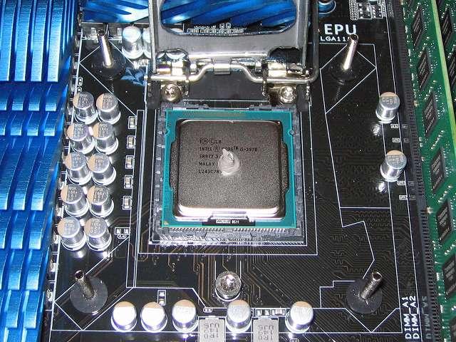 自作 PC 仮組み ASUS P8Z68-V PRO/GEN3 + Intel Core i5-3570 前編