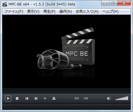 MPC-BE 1.5.2.3445 x64 プレイヤー画面