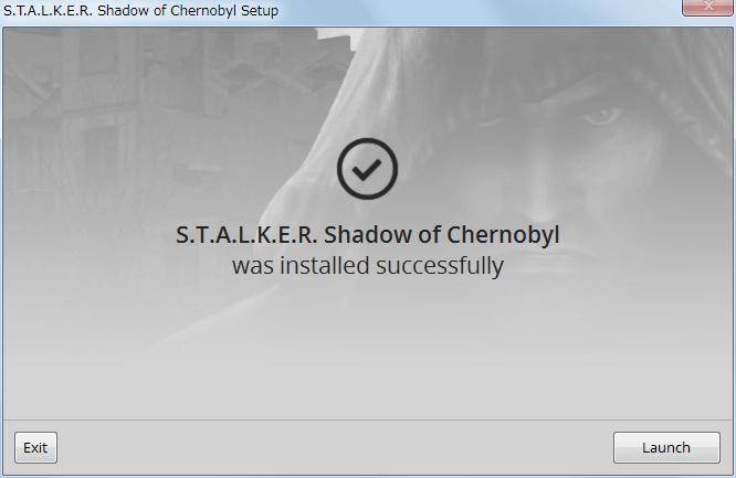 GOG 版 S.T.A.L.K.E.R. Shadow of Chernobyl (1.0006 gog-7) インストール完了