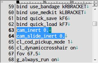 S.T.A.L.K.E.R Shadow of Chernobyl 画面揺れ修正 Mod、ドキュメントフォルダ → Stalker-SHOC フォルダにある user.ltx をテキストエディタで開き cam_inert と slide_inert を 0. に変更