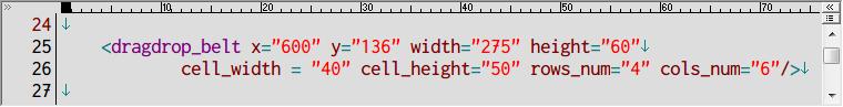 S.T.A.L.K.E.R Shadow of Chernobyl アーティファクトインベントリ改造 Mod、アンパックした def_gamedata フォルダから config → ui フォルダの inventory_new_16.xml をコピーしてテキストエディタで編集、dragdrop_belt (アーティファクトスロット) の数値変更例、インベントリサイズ 4行 6列、24マス