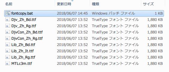 PC 版 ゴッドゲーム Reus、バッチファイルを実行して Djv_Zh_Bd.ttf、Djv_Zh_Rg.ttf、DjvCon_Zh_Bd.ttf、DjvCon_Zh_Rg.ttf、Lib_Zh_Bd.ttf、Lib_Zh_It.ttf、Lib_Zh_Rg.ttf できたら、Fonts フォルダにあるフォントと差し替える