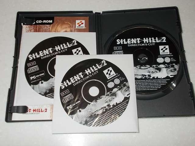 サバイバルホラーアドベンチャー PC ゲーム SILENT HILL 2 Director's Cut ヨーロッパ(欧州)版パッケージ ディスク CD 3枚組