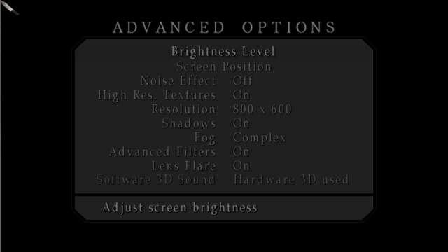 PC ゲーム SILENT HILL 2 のオーディオ設定をソフトウェアからハードウェアにエミュレートできる IndirectSound をインストール、dsound.dll をインストールフォルダにコピー、ゲームを起動して ADVANCED OPTIONS を開き Software 3D Sound が Hardware 3D used になっているかどうか確認