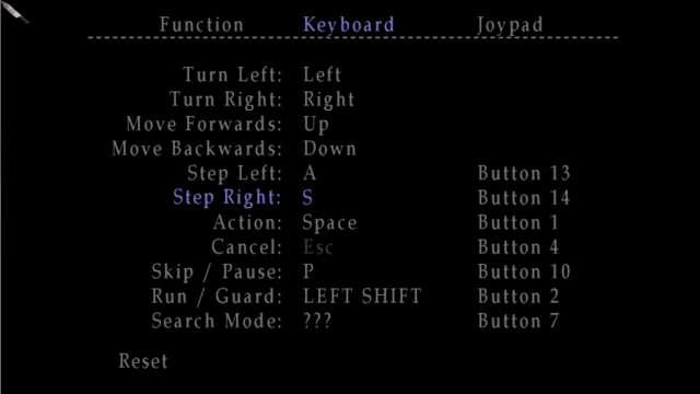PC ゲーム SILENT HILL 2 キーボード・ジョイパッド キー・ボタン設定一覧(デフォルト)