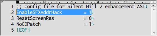 Audio Enhancement Pack を使用する場合は SH2 Enhancements ASI の sh2-enhce.ini ファイル内にある EnableSFXAddrHack を 1 にしてあること、それ以外の場合 Audio Enhancement Pack は動作せず、ゲーム起動時にフリーズ