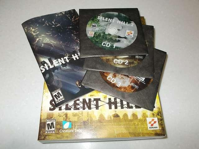 サバイバルホラーアドベンチャー PC ゲーム SILENT HILL 2 北米版パッケージ ディスク CD 3枚組