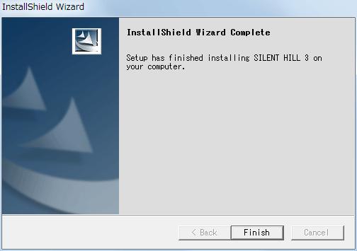 サバイバルホラーアドベンチャー PC ゲーム SILENT HILL 3 ヨーロッパ版 インストール完了