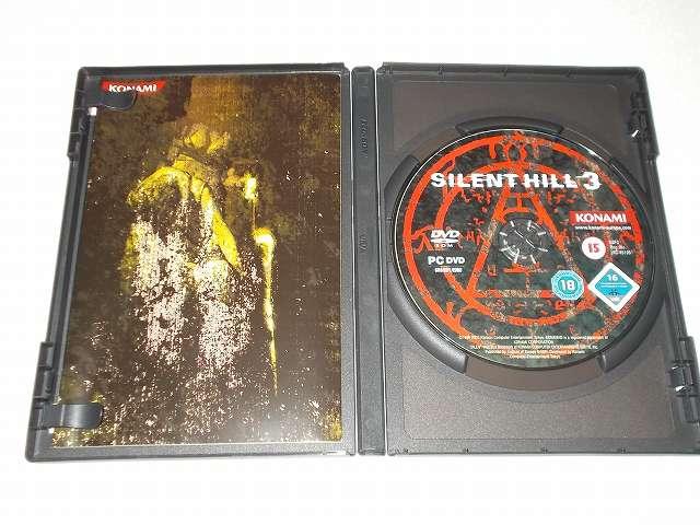 サバイバルホラーアドベンチャー PC ゲーム SILENT HILL 3 ヨーロッパ版パッケージ DVD ディスク 1枚
