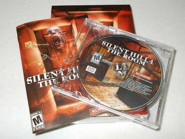 サバイバルホラーアドベンチャー PC ゲーム SILENT HILL 4 THE ROOM 北米版パッケージ ディスク DVD 1枚