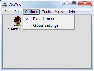 PC ゲーム SILENT HILL HOMECOMING ウィンドウモード設定 その2、DxWnd を使用する、PCGamingWiki に記載されている設定か exports フォルダにある SILENT HILL HOMECOMING 用プリセット設定ファイルを使う方法がある、DxWnd メニュー Options → Expert mode にチェックマークを入れる