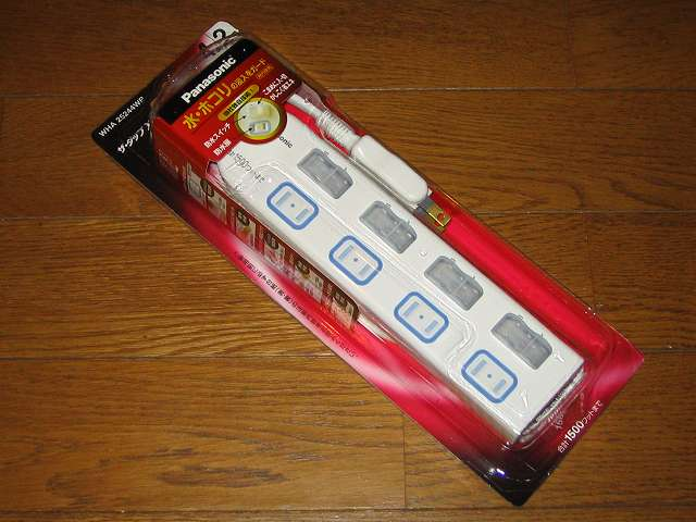 Panasonic ザ・タップX WHA25244WP 4コ口 個別防水スイッチ付 2m コード 購入