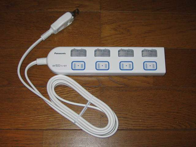 Panasonic ザ・タップX WHA25244WP 4コ口 個別防水スイッチ付 2m コード 開封