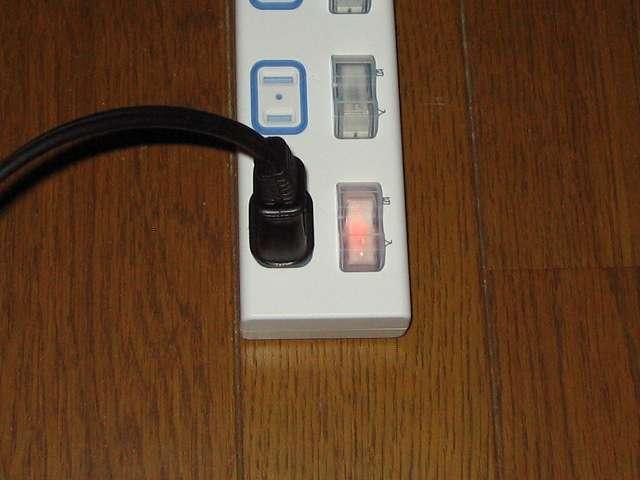 Panasonic ザ・タップX WHA25244WP 4コ口 個別防水スイッチ付 2m コード コンセントにつなぎ個別防水スイッチを入にするとランプが点灯