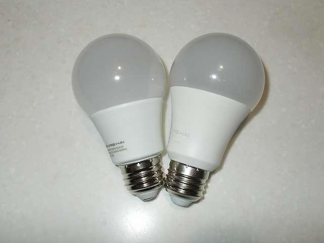 Shine Hai LED 電球 口金 E26 昼白色 5000K 6個セット、Shine Hai LED 電球 口金 E26 電球色 2700K 6個セット 2018年6月購入