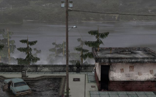 SILENT HILL 2 Enhanced Edition インストール方法と日本語化メモ、ReShade & Filters インストール、OpenGL 版 ReShade & Filters オン(SMAA [SMAA.fx]、HQ4X [HQ4X.fx]、Levels [Levels.fx]、DPX [DPX.fx] 有効)、Print Screen キーで SILENT HILL 2 フォルダに png 形式でゲーム画像を保存