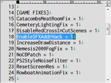 SILENT HILL 2 Enhanced Edition インストール方法と日本語化メモ、Audio Enhancement Pack インストール、sh2e → sound フォルダに Audio Enhancement Pack インストール、Silent Hill 2 Enhancement の d3d8.ini ファイルに記述されている [GAME FIXES] セクションにある EnableSFXAddrHack を 1(初期値) にする