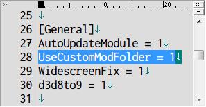 SILENT HILL 2 Enhanced Edition インストール方法と日本語化メモ、Silent Hill 2 Enhancement Module の d3d8.ini ファイルに記述されている UseCustomModFolder、Enhanced Edition Essential Files、FMV Enhancement Pack、Audio Enhancement Pack を導入する場合は UseCustomModFolder が 1(初期値) になっている必要がある