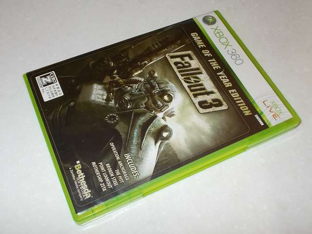 Xbox360 版 Fallout 3 Game of the Year Edition パッケージ