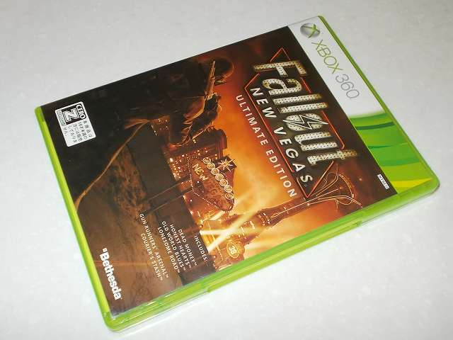 Xbox360 版 Fallout New Vegas Ultimate Edition パッケージ
