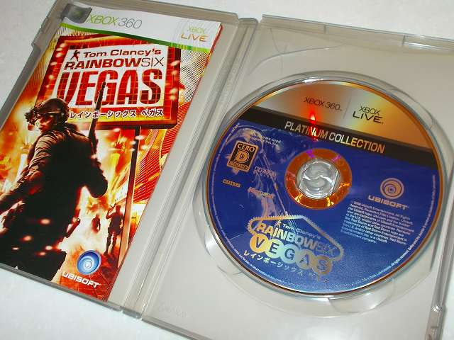 Xbox360 版 Tom Clancy's Rainbow Six Vegas Platinum Collection ゲームディスク