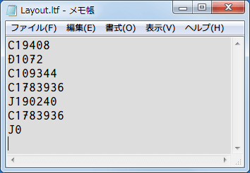 wxRipper 1.2.0.42 Windows7 x64 を 2層映像 DVD を DVD ドライブに挿入、ディスクを入れた DVD ドライブレターを選択して Hotswap → Find magic number をクリック、うまくいくと Found magic number 数字(DVD によって違う、プライベートライアンの場合 190240)が表示される、File → Save layout file... をクリックしてファイル(.ltf)を保存、ltf ファイルをテキストエディタで開く