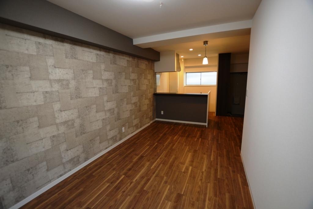 施工後 繕様106キッチン床壁