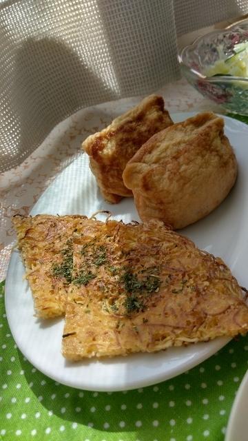 ガレット&甘辛お揚げのお惣菜 (360x640)