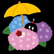 傘(あじさい