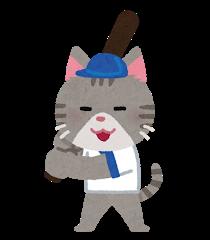 ネコの野球