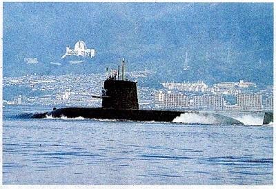 南シナ海へ向かう潜水艦「くろしお」 - コピー