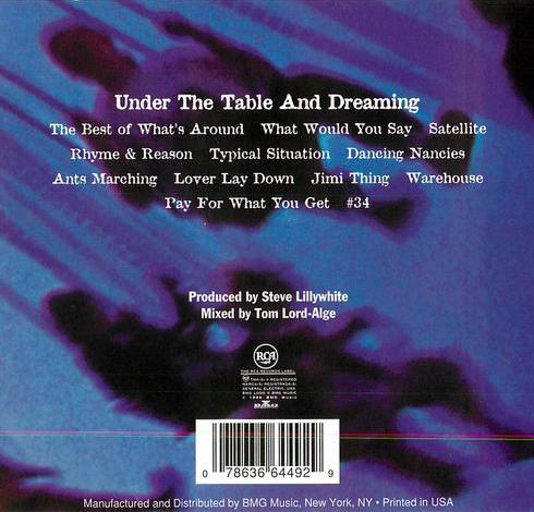 Under The Table And Dreaming (back)
