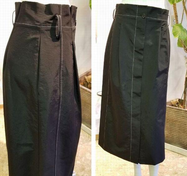 タフタセミフレアスカート5