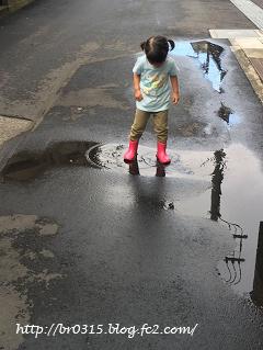雨が楽しみな3歳児