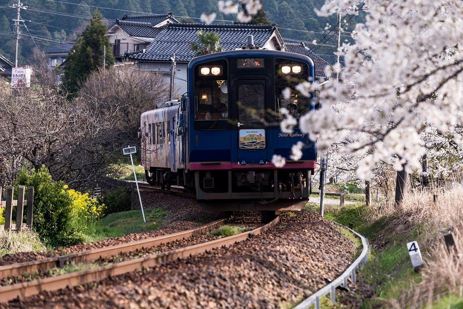 2018.04.10のと鉄道 桜 3