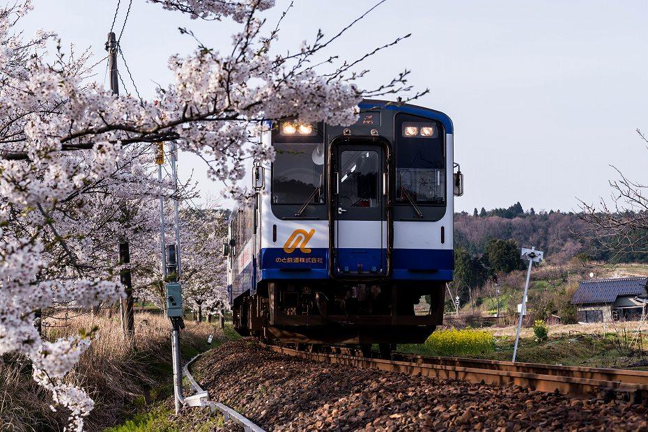 2018.04.10のと鉄道 桜 2