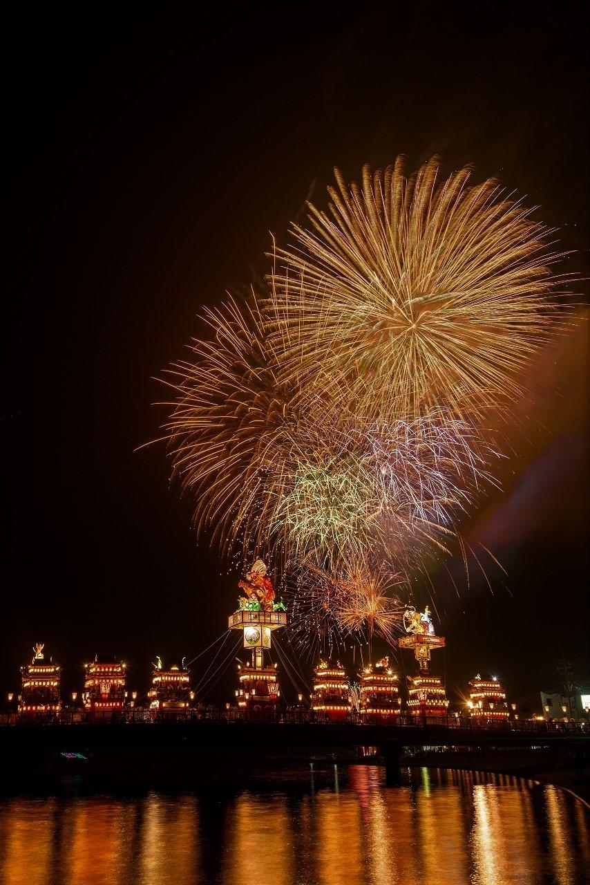 2018.07.20 燈籠山祭り 花火 1