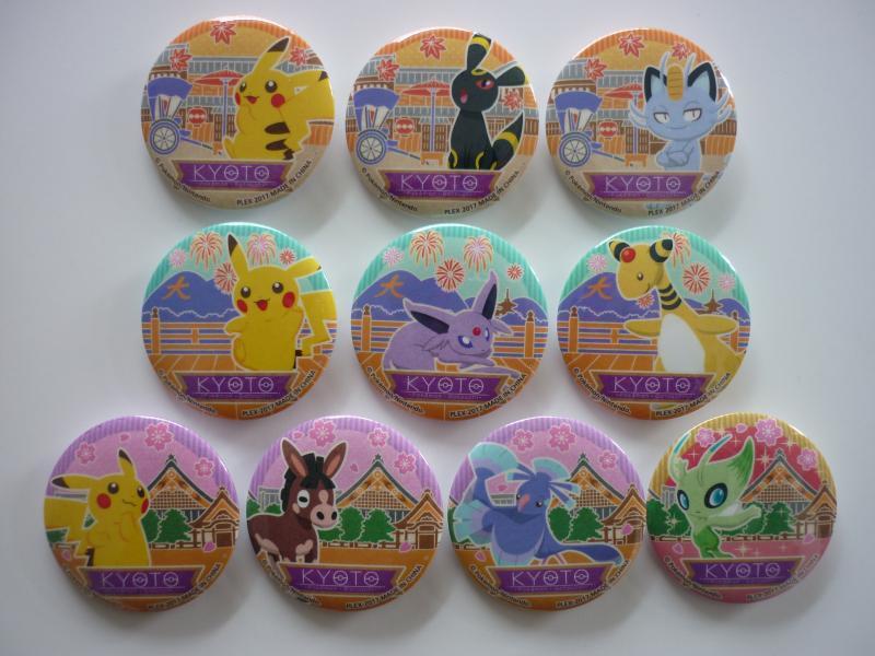 Poketabi POPスタイル 京都限定 コレクション缶バッジ