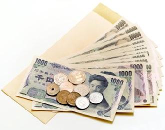 数十枚の1万円札