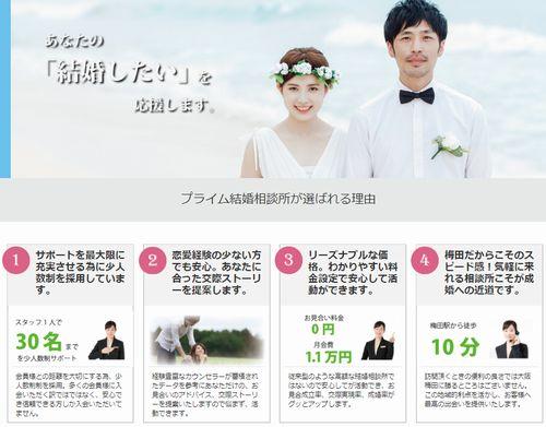 全国の登録者多数!プライムで婚活した感想。大阪市梅田の結婚相談所で再婚!バツイチで理想の相手と結婚