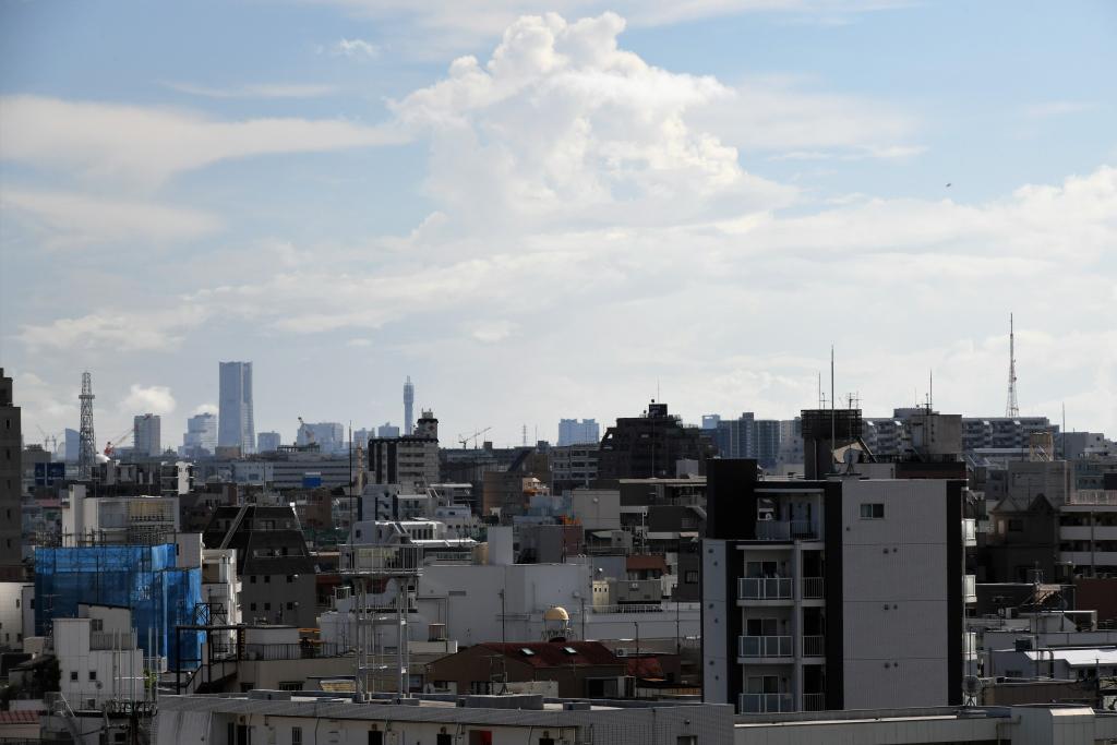 横浜ランドマークタワー & 三ツ池電波塔