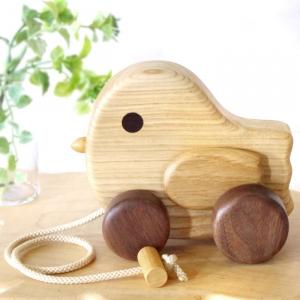 風工房_木のおもちゃ 木製 引き車_パタパタ小鳥_001