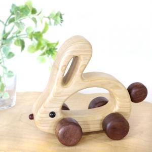 風工房_木のおもちゃ 木製 車_うさちゃんカー_001