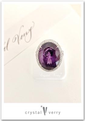 アメジストとダイヤモンドの指輪