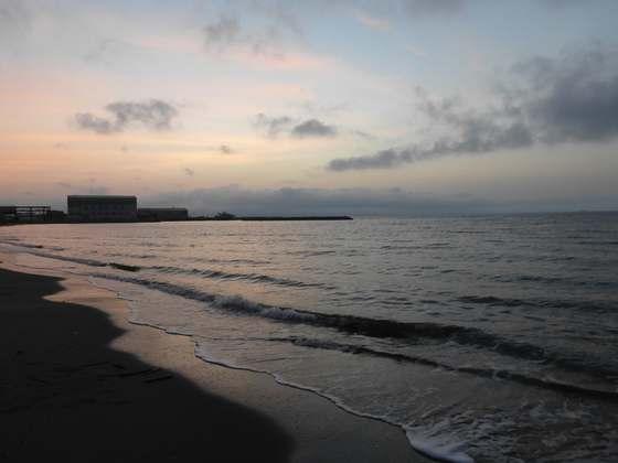 陸奥湾の夕暮れ